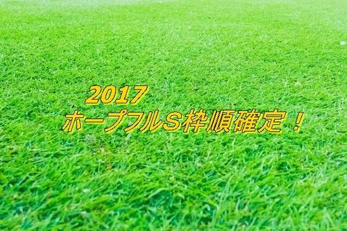2017 ホープフルSの枠順確定!.jpg